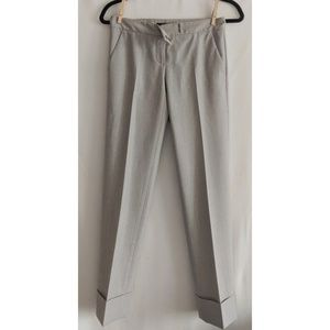 Theory - Cuffed and Cropped Wool Trouser